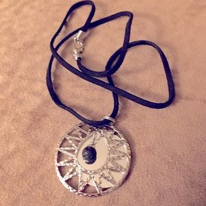 Essential Oil Necklace with Leather Chain